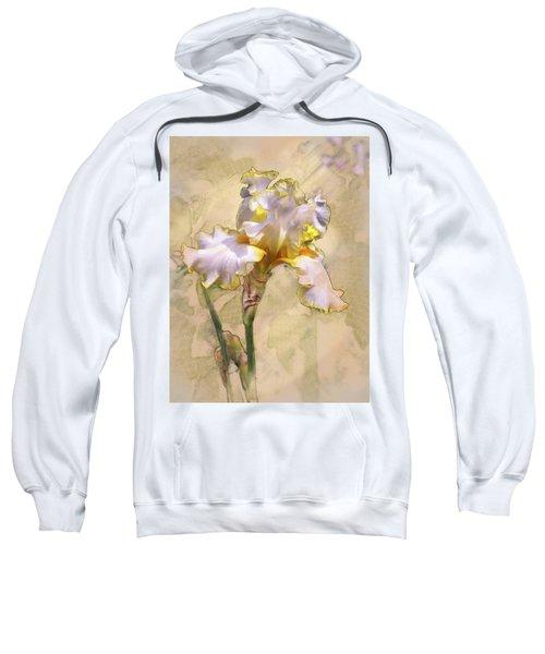 White And Yellow Iris Sweatshirt
