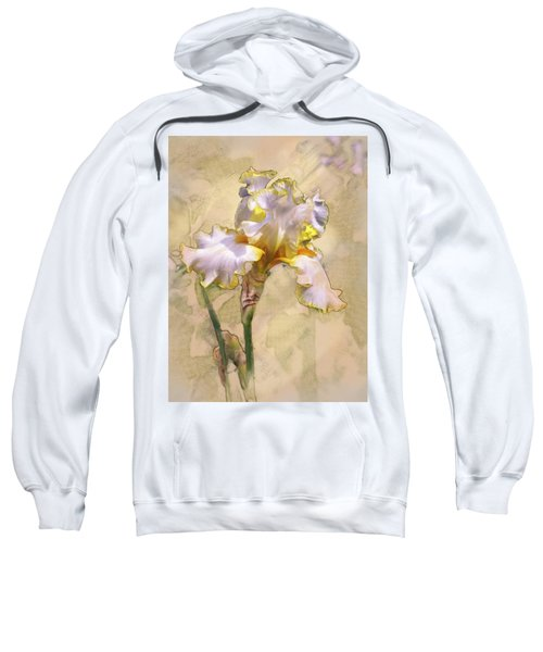 White And Yellow Iris Sweatshirt