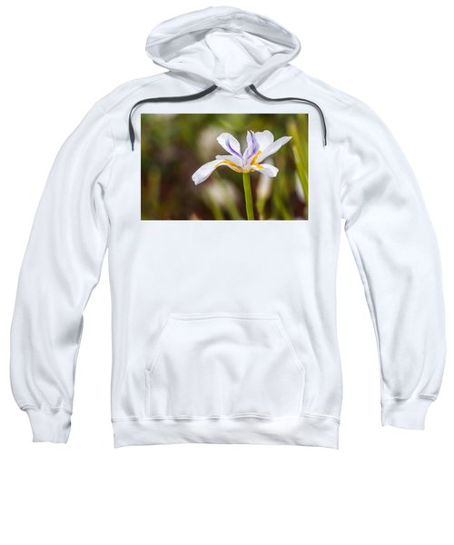 White Beardless Iris Sweatshirt