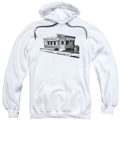 White Crystal Diner Nj Sketch Sweatshirt