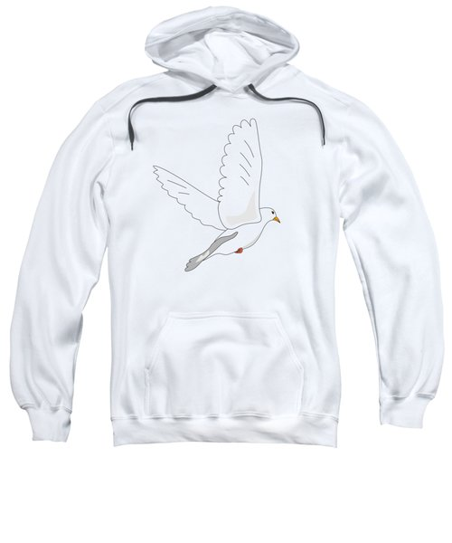 White Dove Sweatshirt by Miroslav Nemecek