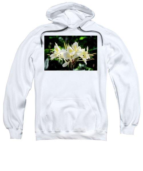 White Hawaiian Flowers Sweatshirt