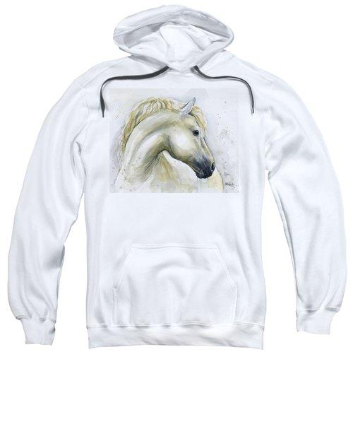 White Horse Watercolor Sweatshirt