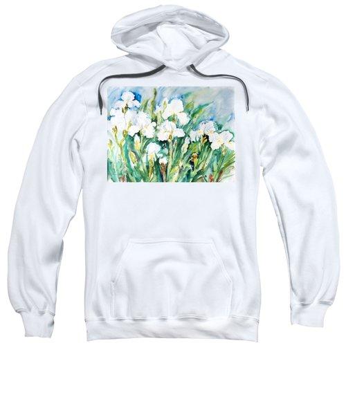 White Irises Sweatshirt