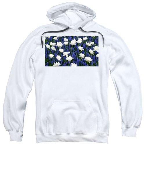 White On Blue Sweatshirt