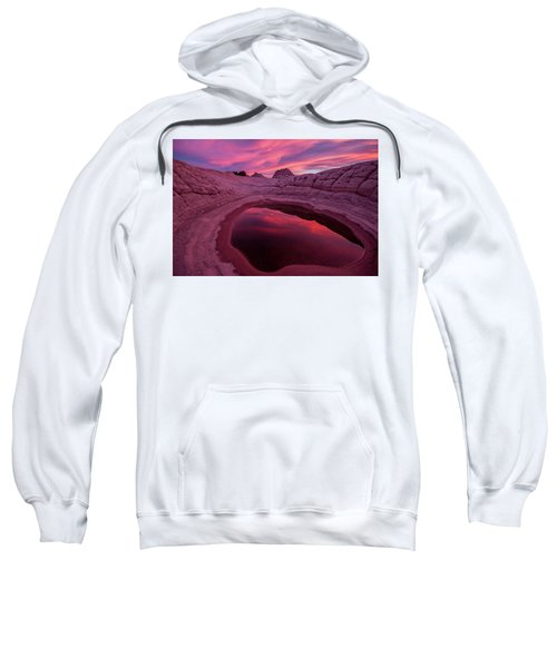 White Pocket Sunset Sweatshirt