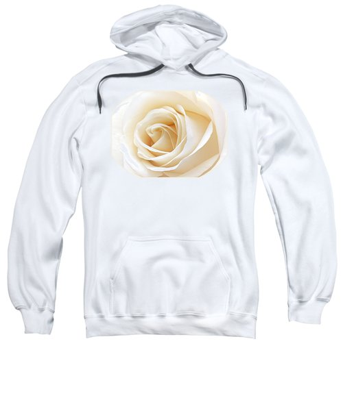 White Rose Heart Sweatshirt