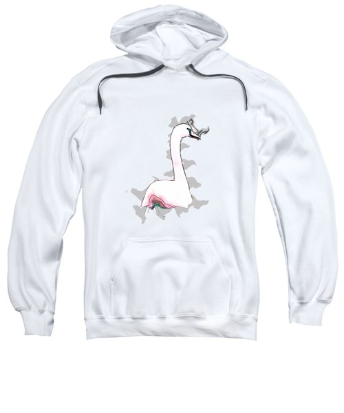 White Swan Swimming  Sweatshirt