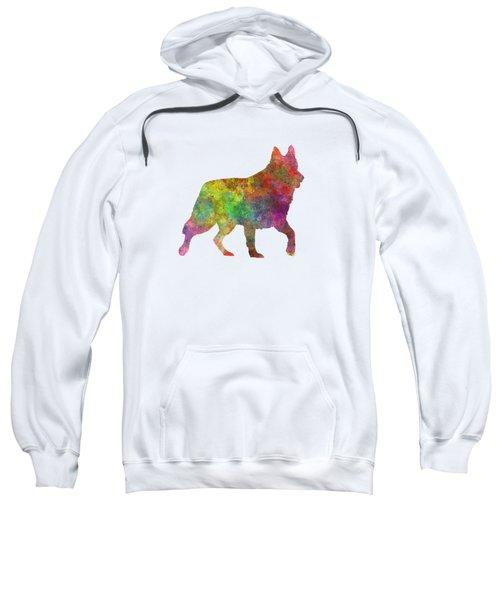 White Swiss Shepherd Dog In Watercolor Sweatshirt