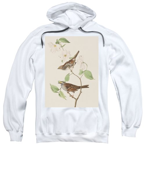 White Throated Sparrow Sweatshirt by John James Audubon
