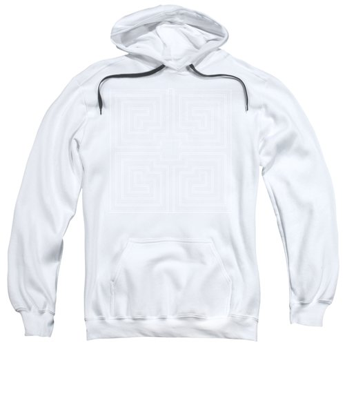 White Transparent Design Sweatshirt
