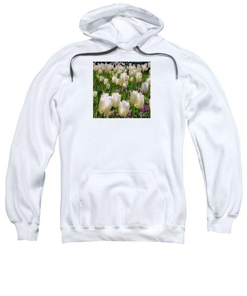 White Tulips In Bloom Sweatshirt