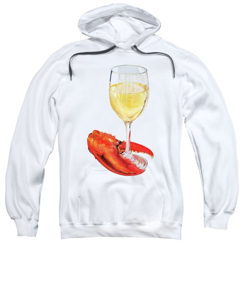 White Wine And Lobster Claw Sweatshirt