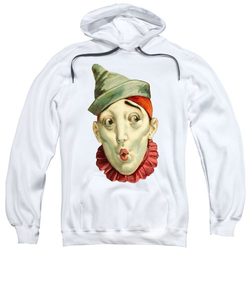 Sweatshirt featuring the digital art Who Me? by ReInVintaged