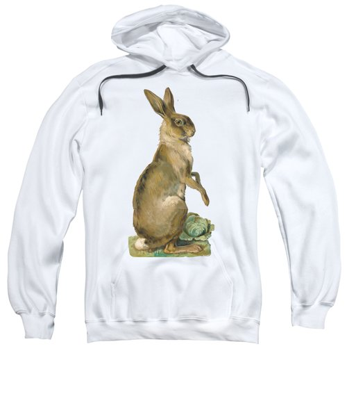 Sweatshirt featuring the digital art Wild Hare by ReInVintaged