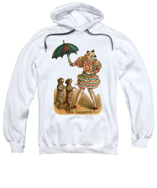 Sweatshirt featuring the digital art Will Work For Food by ReInVintaged