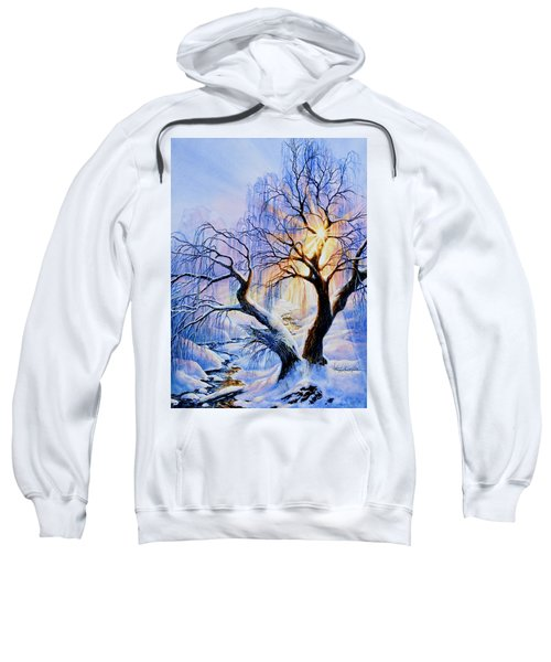 Sweatshirt featuring the painting Willow Creek Sunset by Hanne Lore Koehler