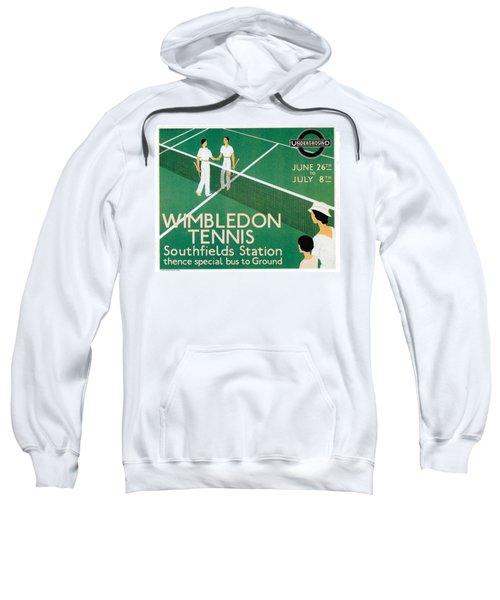 Wimbledon Tennis Southfield Station - London Underground - Retro Travel Poster - Vintage Poster Sweatshirt