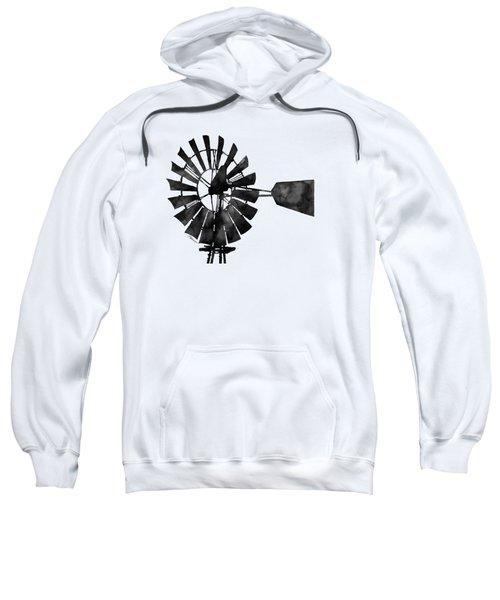 Windmill In Black And White Sweatshirt by Hailey E Herrera