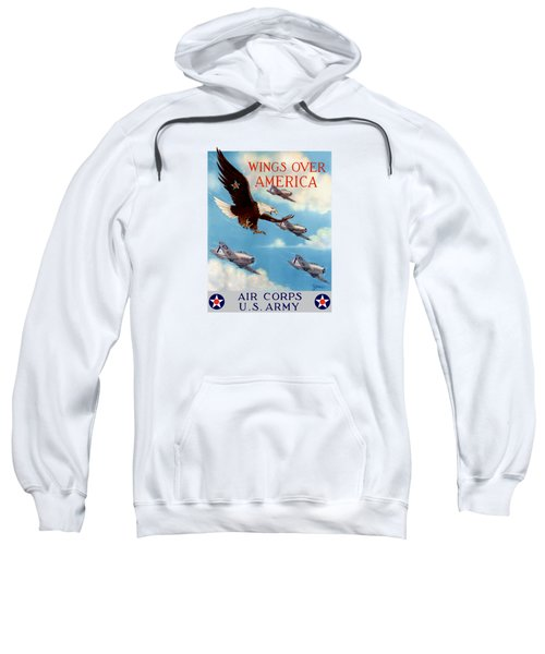 Wings Over America - Air Corps U.s. Army Sweatshirt by War Is Hell Store