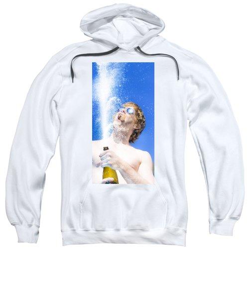 Winner Breaking Open The Bubbly Sweatshirt