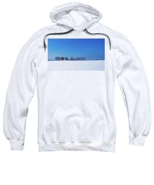 Winter Farm Blue Sky Sweatshirt