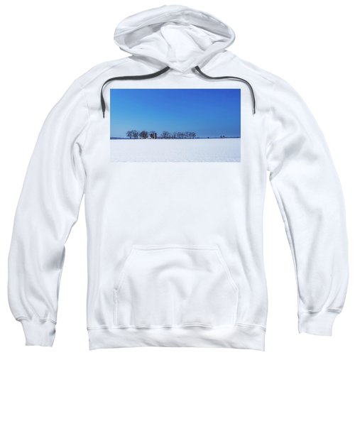 Winter Farm Blue Sky Sweatshirt