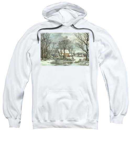Winter In The Country - The Old Grist Mill Sweatshirt