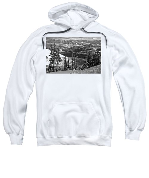 Winter Views At Brighton Black And White Sweatshirt