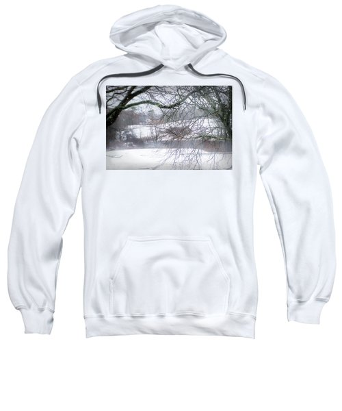 Wintery Window View  Sweatshirt