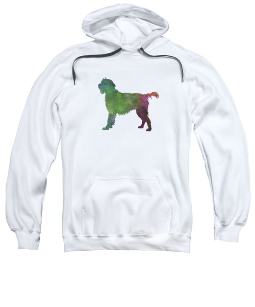 Wirehaired Pointing Griffon Korthals In Watercolor Sweatshirt by Pablo Romero