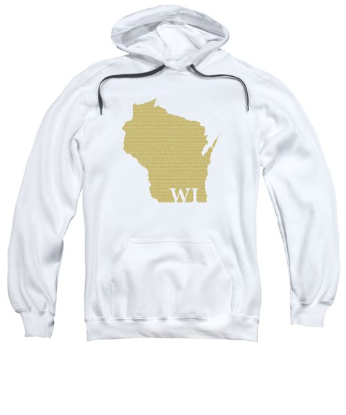 Wisconsin State Map With Text Of Constitution Sweatshirt