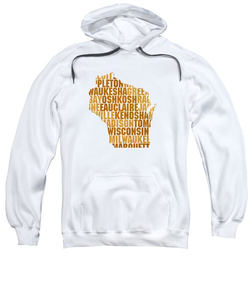 Wisconsin State Outline Word Map Sweatshirt