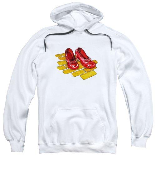 Wizard Of Oz Ruby Slippers Sweatshirt by Irina Sztukowski
