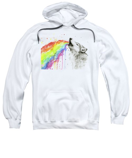 Wolf And Rainbow  Sweatshirt