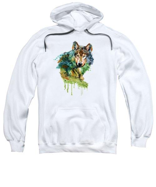 Wolf Face Watercolor Sweatshirt