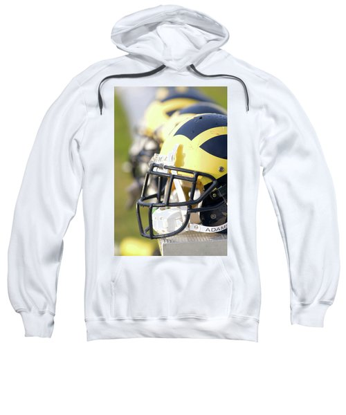 Wolverine Helmets On A Bench In The Morning Sweatshirt