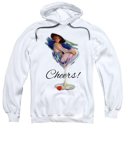 Woman In Wine Glass Sweatshirt