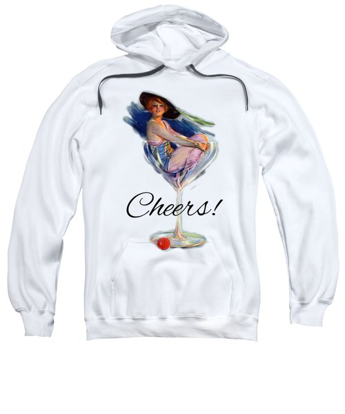 Woman In Wine Glass Sweatshirt