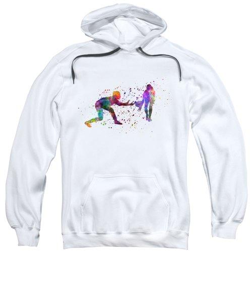 Woman Rugby 01 In Watercolor Sweatshirt