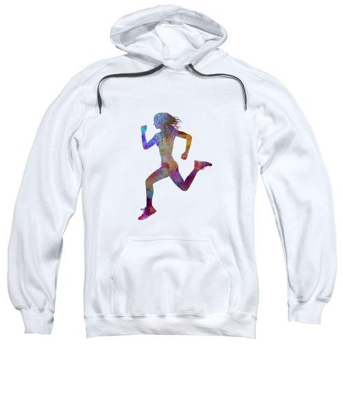 Woman Runner Running Jogger Jogging Silhouette 01 Sweatshirt