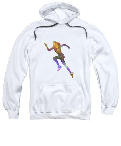 Woman Runner Running Jogger Jogging Silhouette 03 Sweatshirt