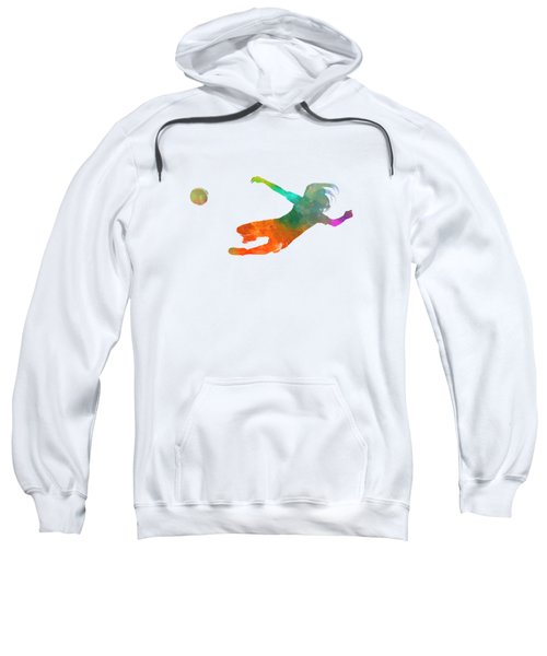 Woman Soccer 14 In Watercolor Sweatshirt
