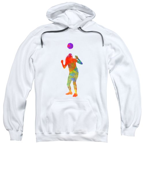 Woman Soccer Player 13 In Watercolor Sweatshirt