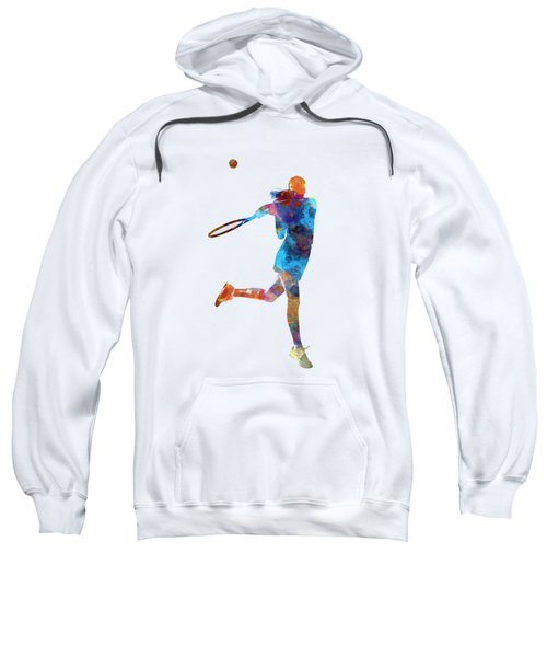 Woman Tennis Player 03 In Watercolor Sweatshirt