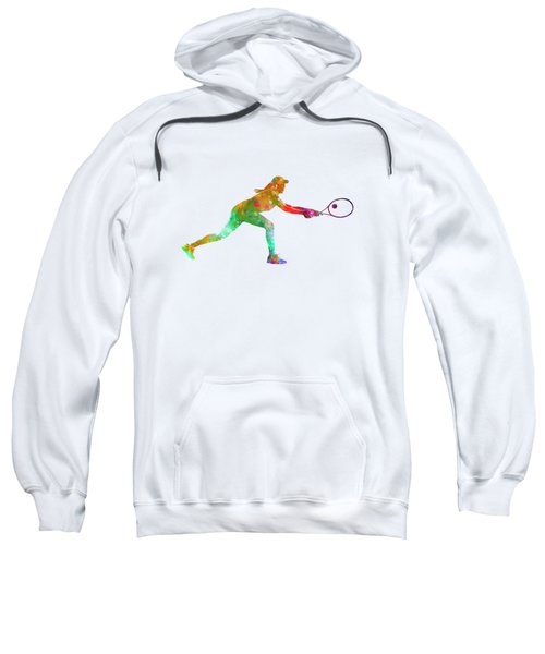Woman Tennis Player Sadness 02 In Watercolor Sweatshirt