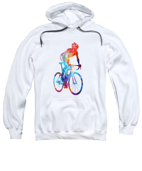 Woman Triathlon Cycling 06 Sweatshirt by Pablo Romero