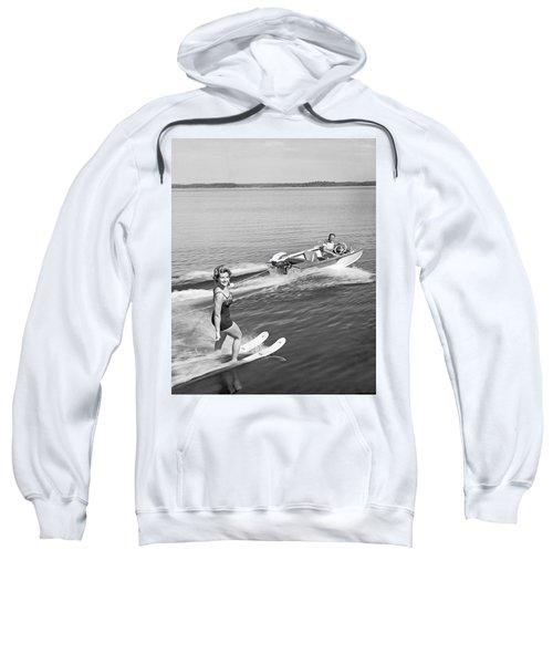 Woman Water Skiing Sweatshirt