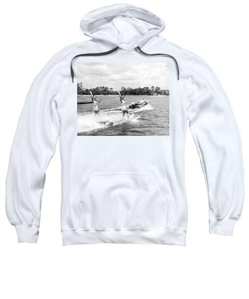 Women Water Skiers Waving Sweatshirt