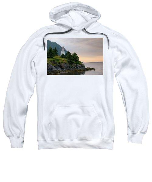 Woody Point Lighthouse - Bonne Bay Newfoundland At Sunset Sweatshirt